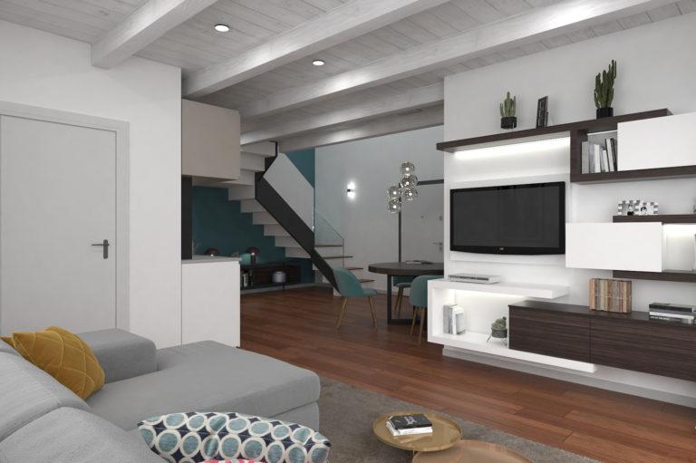 Trilocale loft con terrazzo